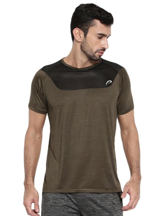 15cb29c22091 Buy Olive Green Polyester T-shirt for Men from Proline for ₹379 at ...