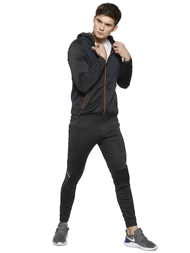 black polyester full length track suit - 15856226 - Standard Image - 1
