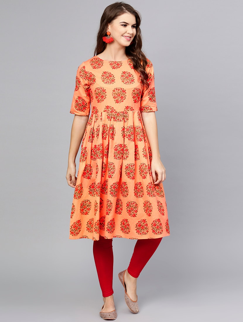 d22d7818099 Buy Flared Printed Kurta for Women from Aasi - House Of Nayo for ...
