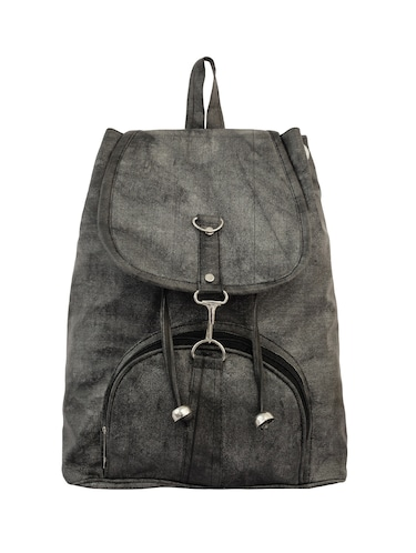 grey leatherette (pu) fashion backpack - 15859028 - Standard Image - 1
