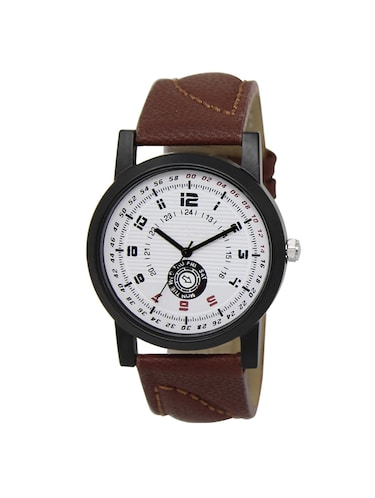 leather strap analog watch (LR-11) - 15865028 - Standard Image - 1