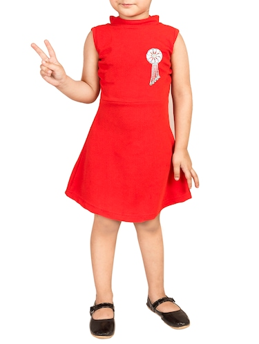 red cotton frock - 15893042 - Standard Image - 1
