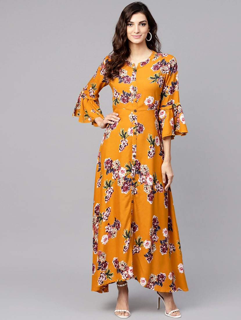 6a605a51c9 ... A-line floral bell sleeves dress - 15894319 - Zoom Image - 1