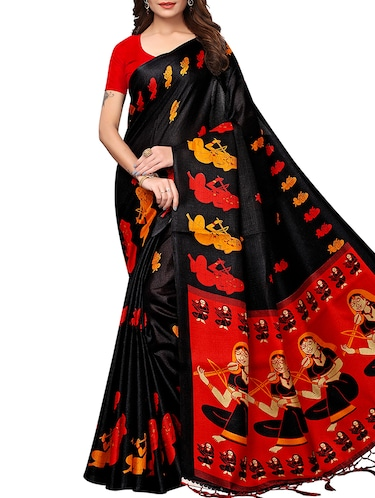 40760e32122868 conversational printed saree with blouse - 15913319 - Standard Image - 1 ...