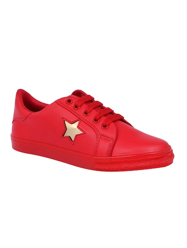 red lace-up sneakers - 15916489 - Standard Image - 1