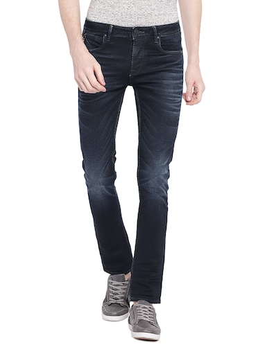 blue cotton washed jeans - 15930478 - Standard Image - 1
