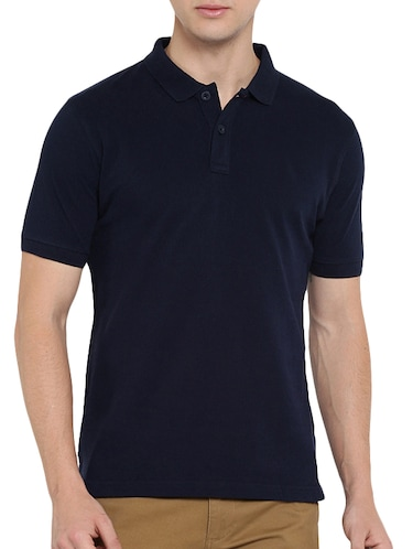 navy blue polyester polo t-shirt - 15932788 - Standard Image - 1