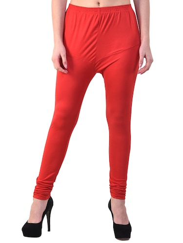 candy red solid legging - 15944306 - Standard Image - 1