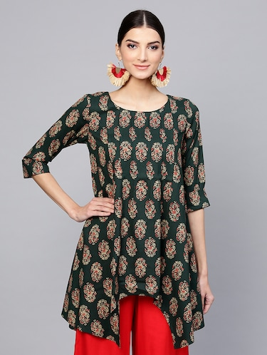 Printed High low kurta - 15973540 - Standard Image - 1