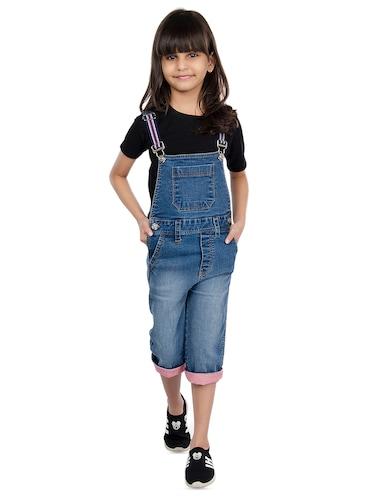 9b9615b32e7 Buy Blue Denim T-shirt And Dungaree Set for Women from Olele Kids ...