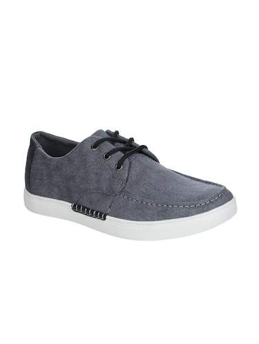 grey Canvas lace up sneakers - 16007905 - Standard Image - 1