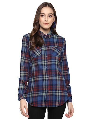pocket patch checkered shirt - 16009111 - Standard Image - 1