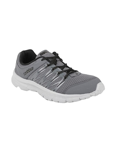 grey fabric lace up sport shoes - 16025760 - Standard Image - 1