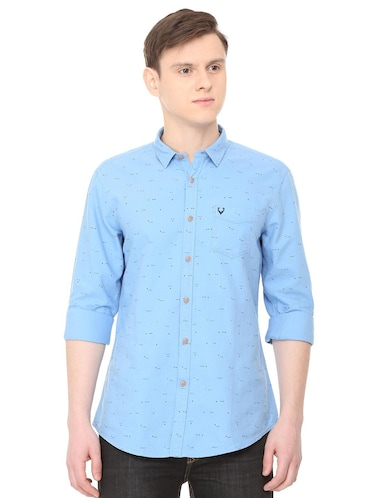 blue cotton casual shirt - 16040249 - Standard Image - 1