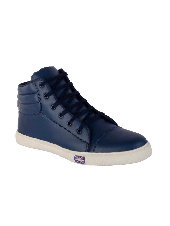 Buy online Blue Leatherette Lace Up