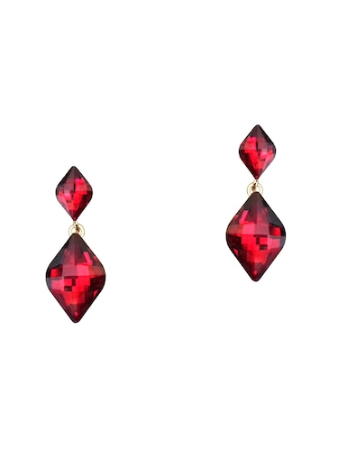red metal studs earring - 16055046 - Standard Image - 1