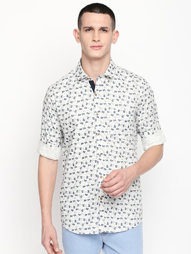 white printed casual shirt - 16059167 - Standard Image - 1