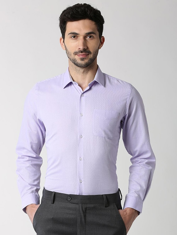 305ff5615ec Buy Purple Solid Formal Shirt for Men from Peter England for ₹1399 ...