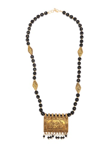 black metal statement necklace - 16094866 - Standard Image - 1