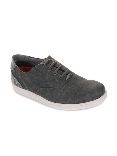 grey synthetic lace up sneakers - 16096737 - Standard Image - 1