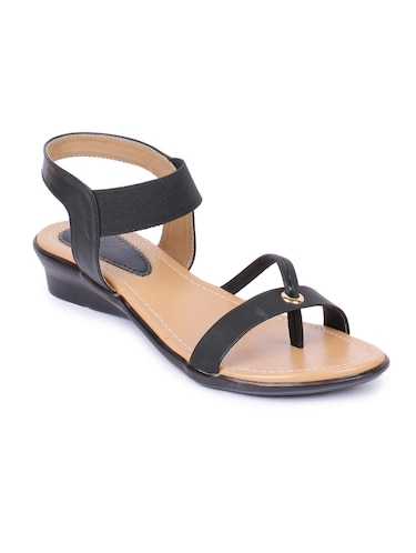 black back strap sandals - 16098517 - Standard Image - 1