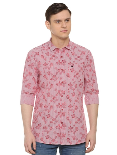 red printed casual shirt - 16107248 - Standard Image - 1
