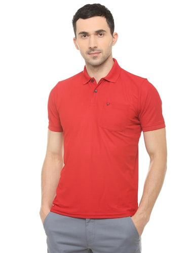 red solid polo t-shirt  - 16107659 - Standard Image - 1