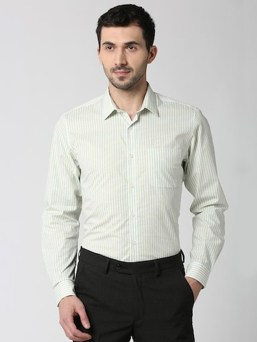 white striped formal shirt - 16107815 - Standard Image - 1