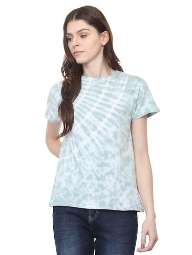 crew neck tied and dyed tee - 16114663 - Standard Image - 1