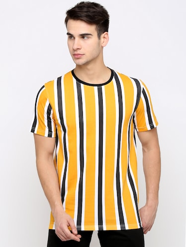 yellow striped t-shirt - 16139249 - Standard Image - 1