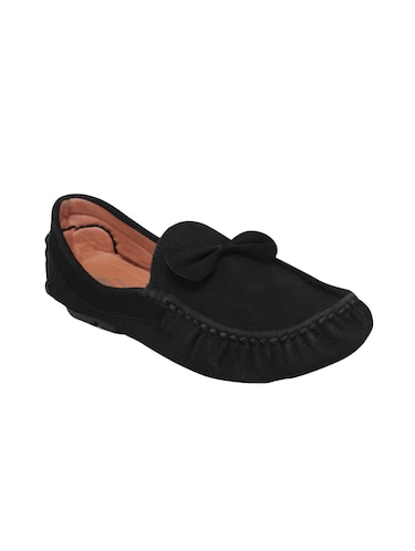 black suede slip on loafers - 16158011 - Standard Image - 1