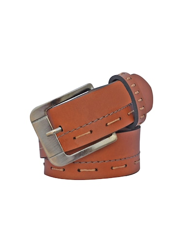 brown leatherette belt - 16165680 - Standard Image - 1