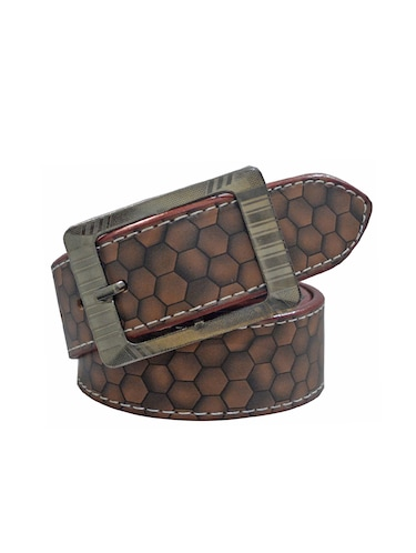 brown leatherette belt - 16173960 - Standard Image - 1