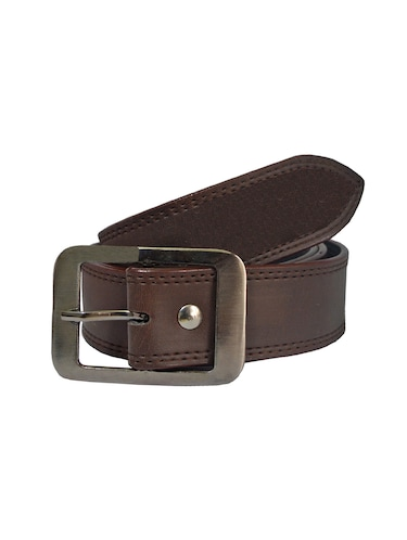 brown leatherette belt - 16173975 - Standard Image - 1
