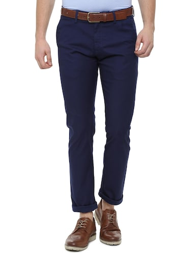 blue cotton chinos - 16174437 - Standard Image - 1