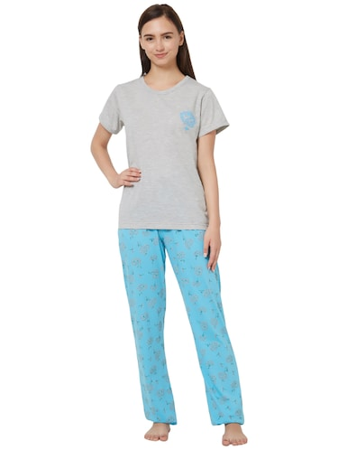 graphic print nightwear set - 16174530 - Standard Image - 1