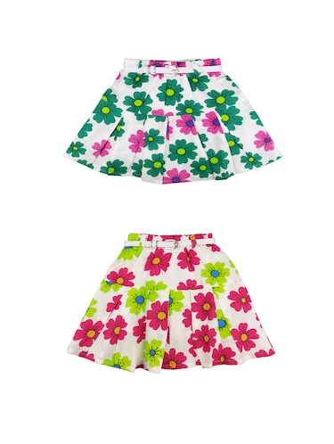 multi colored cotton regular skirt - 16183996 - Standard Image - 1