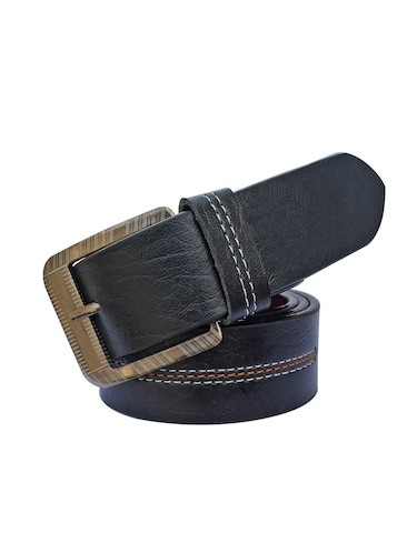 black leatherette belt - 16184383 - Standard Image - 1