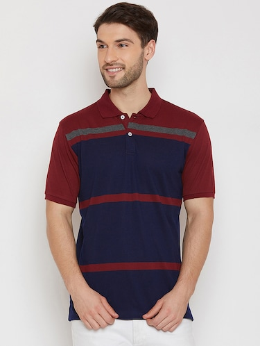 navy blue polo t-shirt - 16186198 - Standard Image - 1