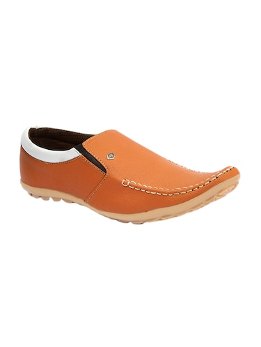 tan leatherette slip on slipons - 16188686 - Standard Image - 1