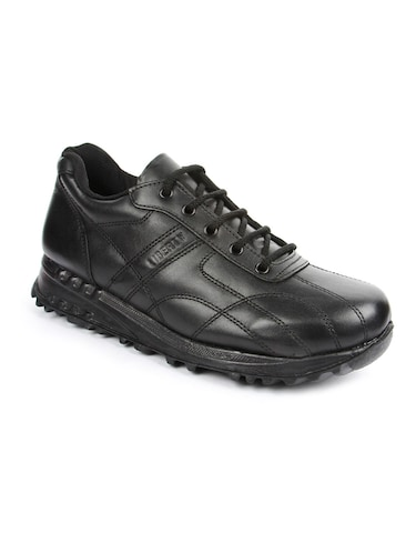 black leather sport shoes - 16191322 - Standard Image - 1