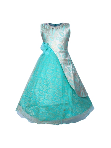light blue net party gown - 16203367 - Standard Image - 1