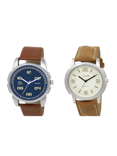 set of 2 analog watch combos(AD-01-LK-16) - 16211103 - Standard Image - 1