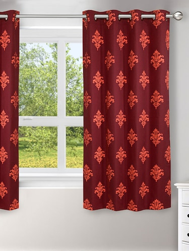 Single Polyester Window Curtain -   Maroon - 16220117 - Standard Image - 1