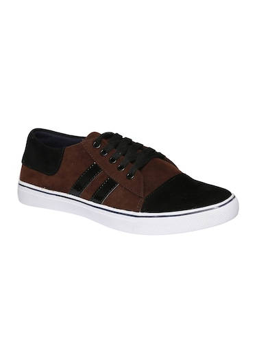 brown velvet lace up sneakers - 16224357 - Standard Image - 1