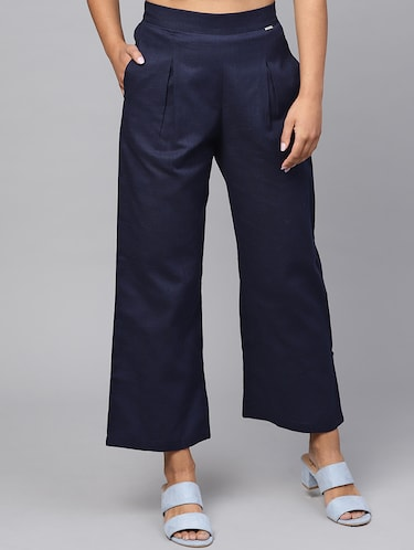 pleat detail high rise trouser - 16245519 - Standard Image - 1