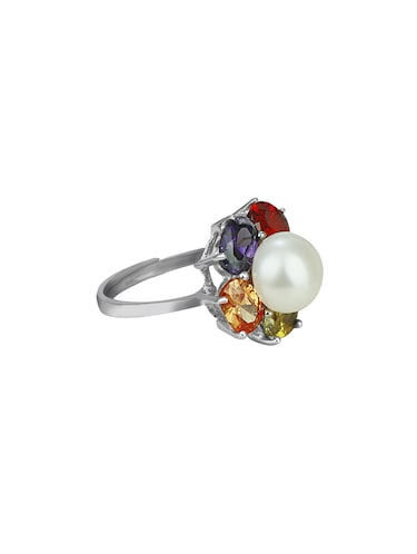 multi colored metal hand ring - 16248398 - Standard Image - 1