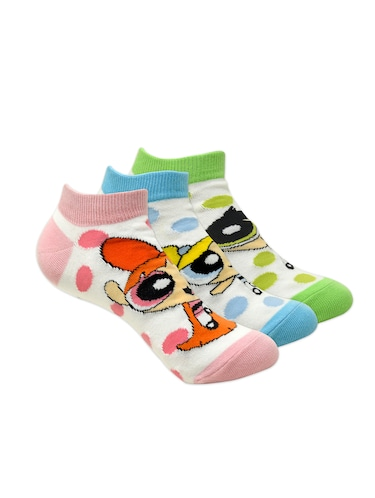 Set of 3 multi colored cotton ankle length sock - 16254667 - Standard Image - 1