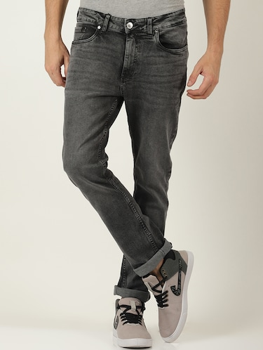 grey denim light washed jeans - 16265181 - Standard Image - 1