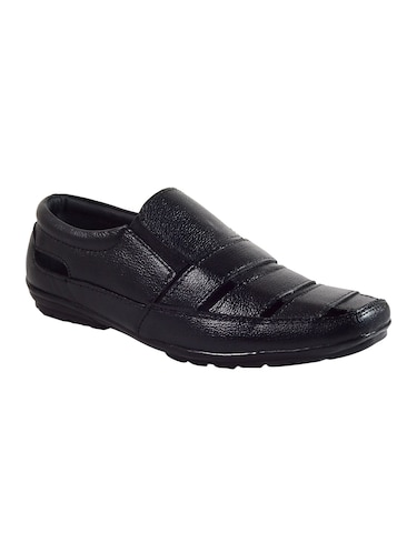 black leather slip on sandals - 16269830 - Standard Image - 1